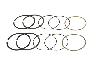 "3-5/8"" Shovelhead Piston Ring Set, .010 Oversize"