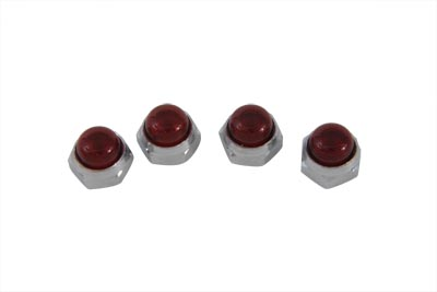 Red Rocker Arm Shaft End Caps