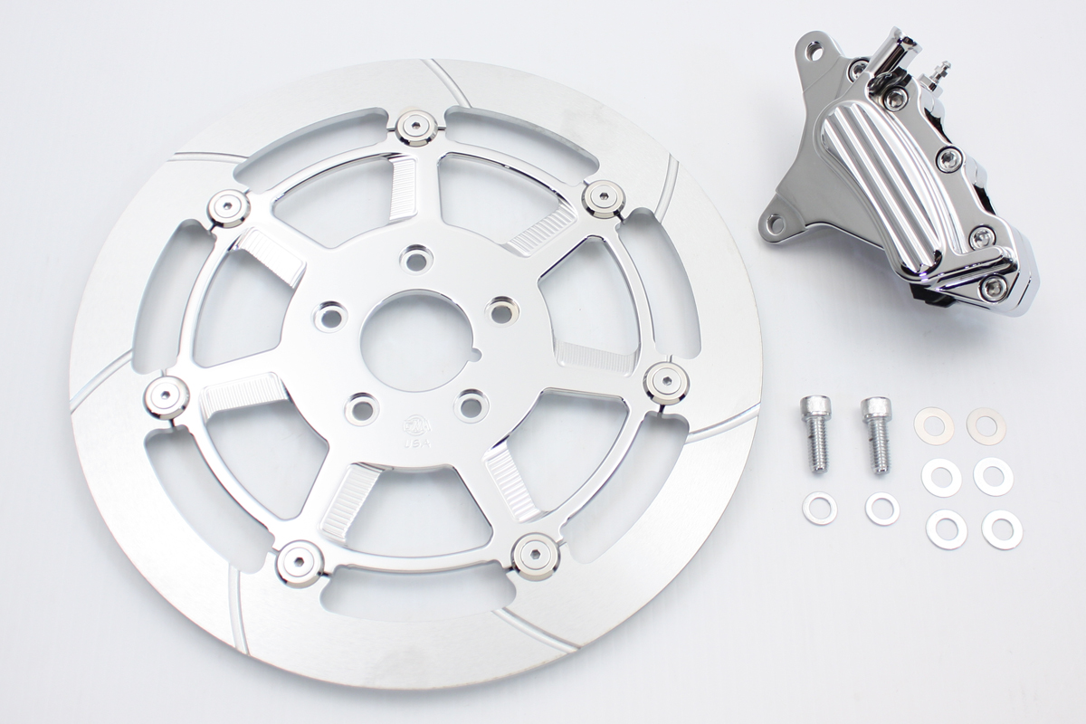 "Chrome Front 6 Piston Caliper and 12-5/8"" Disc Kit"