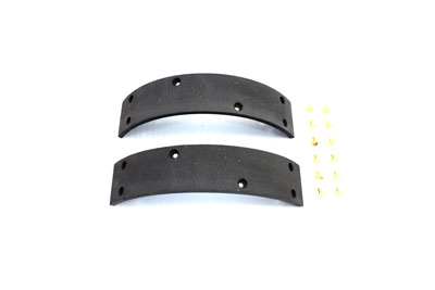 Front Brake Shoe Linings with Rivets