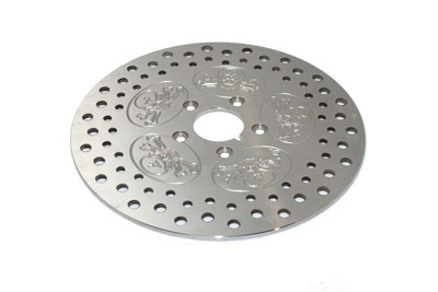 "11-1/2"" Front Brake Disc Skull Design Stainless Steel"
