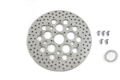"Front 13"" Brake Disc with Drilled Holes"