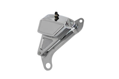 Chrome Front Caliper with Bracket and Brake Pads