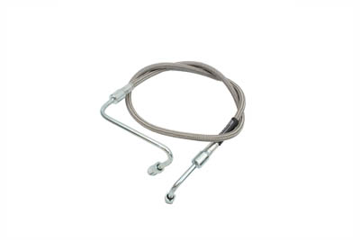 "Stainless Steel 25"" Front Brake Hose"