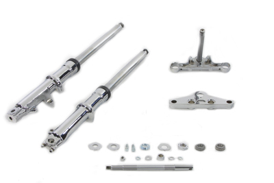 41mm Wide Glide Fork Kit with Chrome Sliders