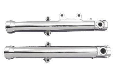 """V-Twin 24-6004 41mm Fork Slider Set Chrome 4/"""" Over Stock"""