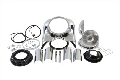 "7"" Headlamp Cowl Kit, Chrome"