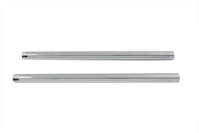 Chrome 33.4mm Fork Tube Set 24-3/4 Total Length