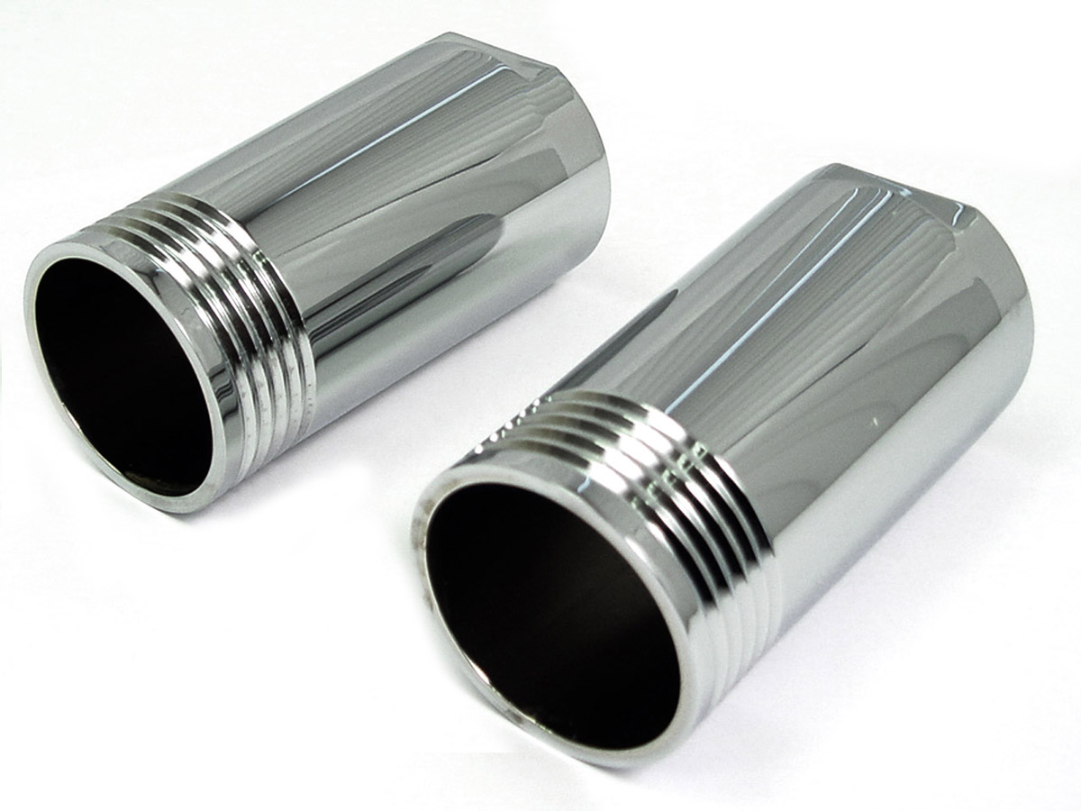 Chrome Fork Slider Cover Set Tapered Style