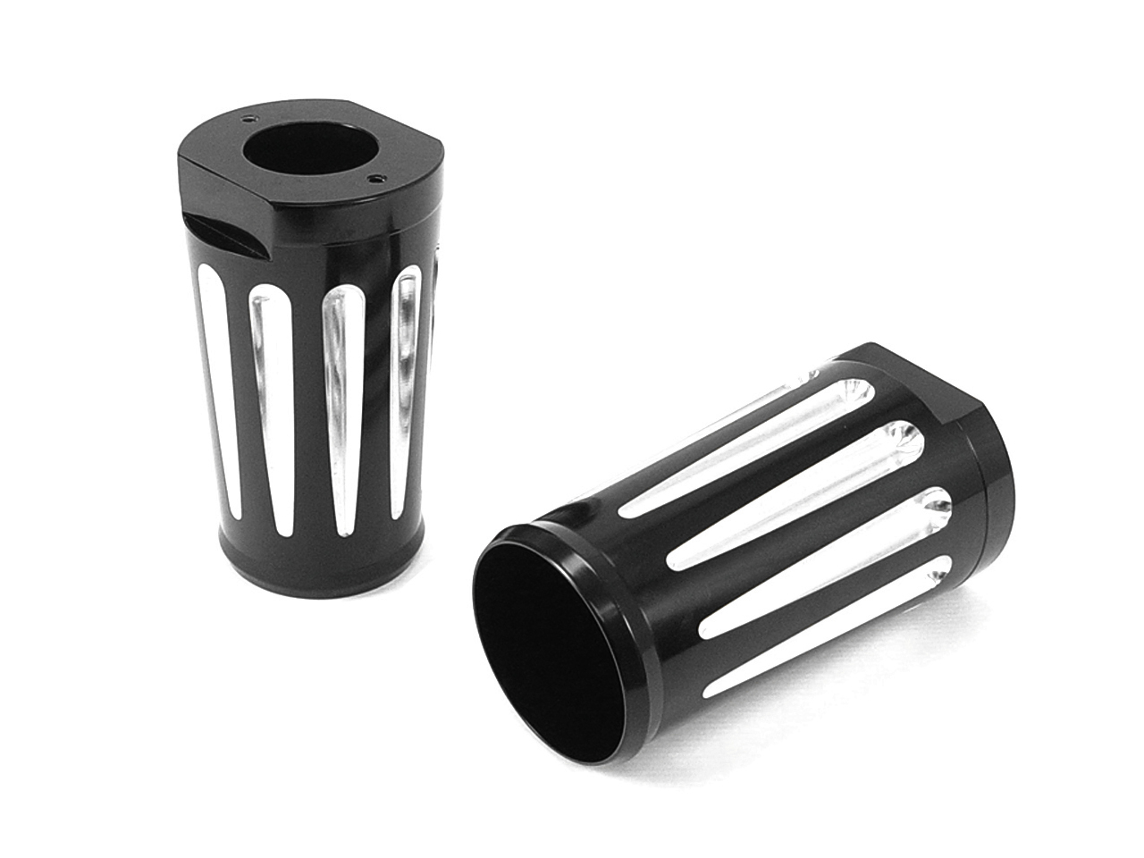 Black Fork Slider Cover Set with Chrome Strip
