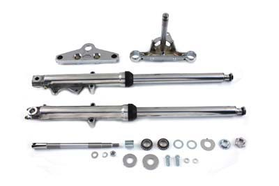 41mm Fork Assembly with Chrome Sliders Dual Disc