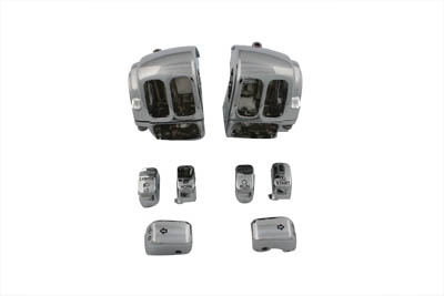 Handlebar Control Switch Housing Kit Chrome