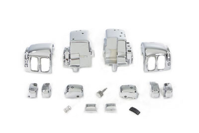 Handlebar Switch Housing Kit Chrome