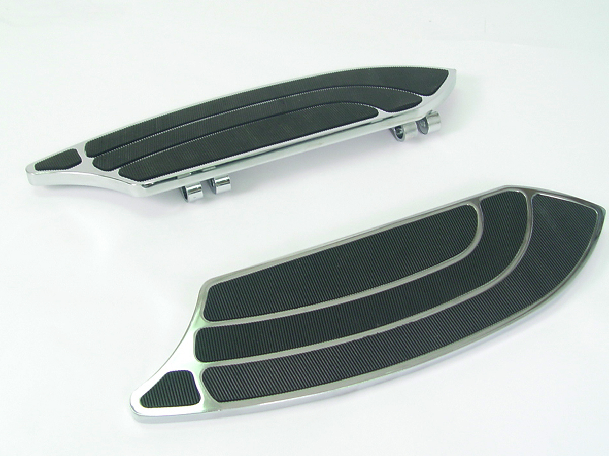 Chrome Driver Rocket Style Footboard Set