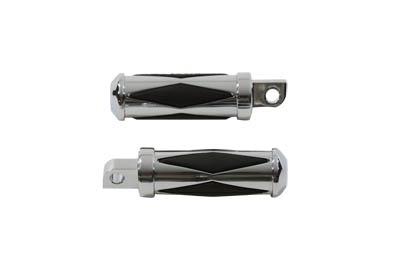 Diamond Style Footpeg Set Chrome