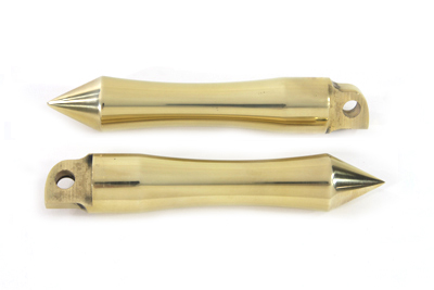 Pirate Spike Solid Brass Footpeg Set