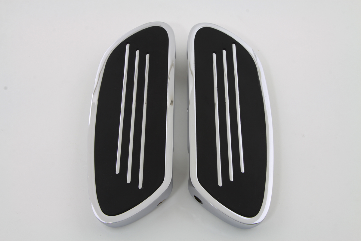 Driver Footboard Set Chrome Streamliner Style