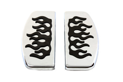 Driver Footboard Set with Flame Design