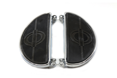 Driver Chrome Footboard Set with H-D Logo
