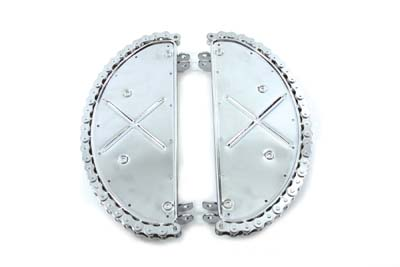 Chrome Driver Footboard Set with Chain Design