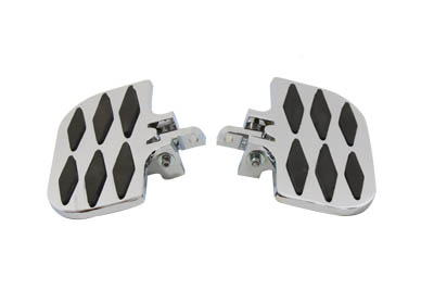 Passenger Footboard Set with Diamond Design