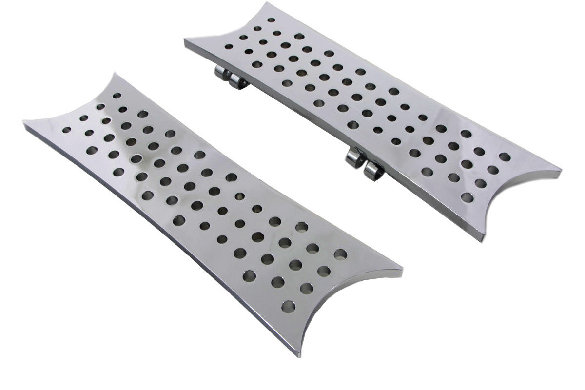 Driver Chrome Swiss Cheese Footboard Set