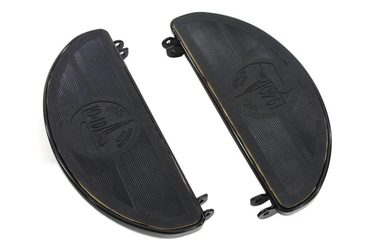 Black Driver Footboard Set with World's Fair Design