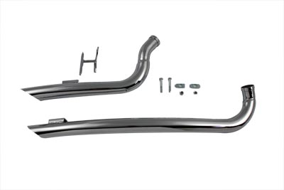 Exhaust Drag Pipe Set Curved