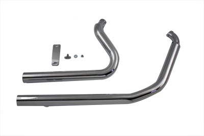 Exhaust Drag Pipe Set Straight Cut
