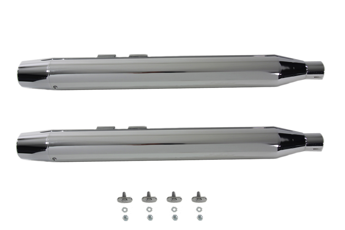 Muffler Set With Chrome Long Tapered End Tips