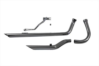 Exhaust Drag Pipe Set Flat Front Pipe