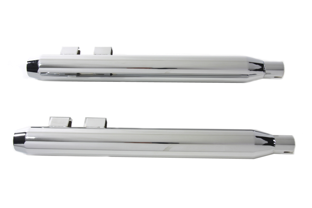 Muffler Set With Chrome Short Tapered End Tips