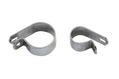 Front Exhaust Chrome Clamp Set