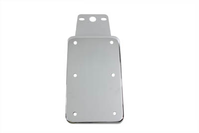 Tail Lamp License Plate Vertical Holder Chrome