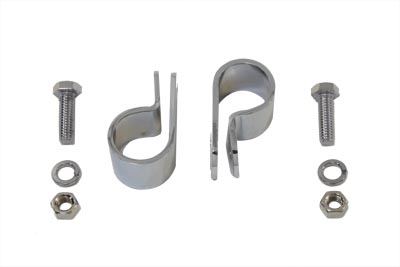 "Chrome 1"" Exhaust Clamp Set"