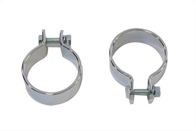"Chrome 1-3/4"" Pipe Clamp Set"