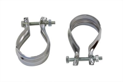 Muffler End Clamp Set Stainless