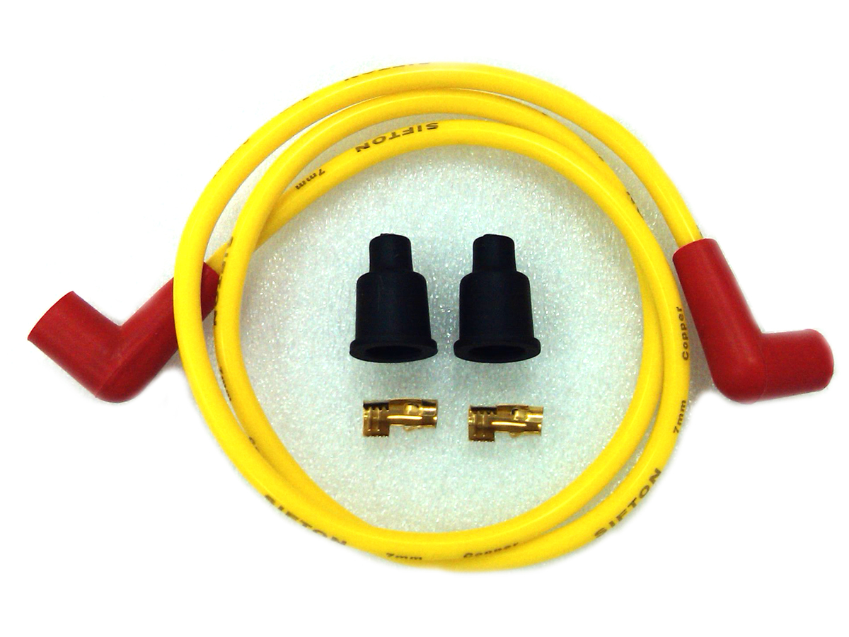 Yellow Copper Core 7mm Spark Plug Wire Kit