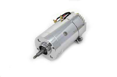 Chrome 12 Volt 2-Brush Generator with High Output