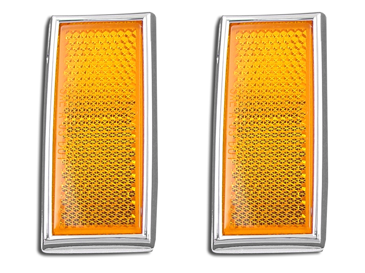 Front Amber Reflector Set With Chrome Frame