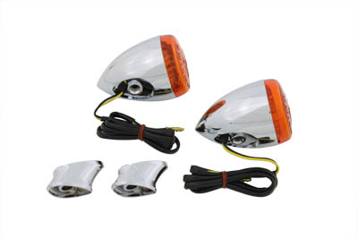 Rear Turn Signal Kit Amber Lens and LED