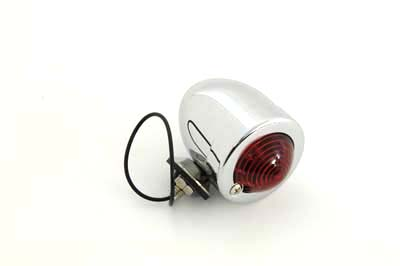 Chrome Bullet Marker Lamp Red Single Filament