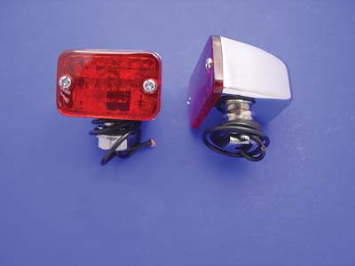 Chrome Mini Tour Marker Lamp Red Lens