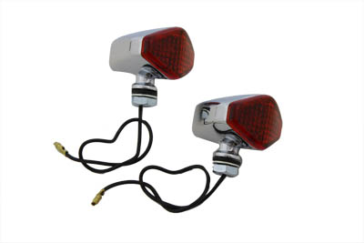 Chrome Diamond Style Red Marker Lamp Set