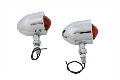 Chrome Red Marker Lamp Set With Single Stem