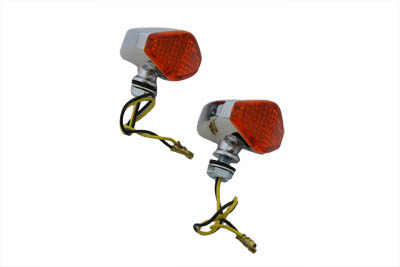 LED Diamond Amber Lens Marker Lamp Set