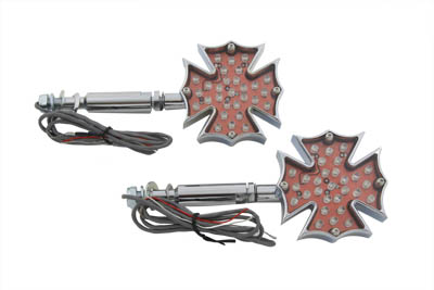 Fireman Cross Turn Signal Set Long Stud