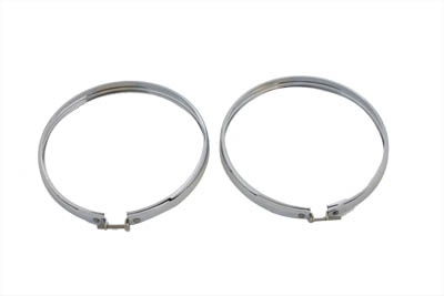 "5-3/4"" Headlamp Chrome Outer Rim Set"