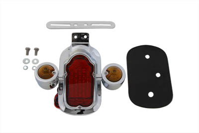 Chrome Tombstone LED Tail Lamp Assembly