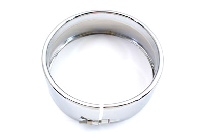 Outer Headlamp Trim Rim Frenched Style Chrome